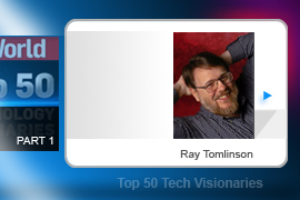 In 1971 Ray Tomlinson sent the message that would ultimately be heard 'round the world: An e-mail from one ARPANet host to another. Tomlinson also came up with the idea of using the @ symbol to separate the username from the host name in an e-mail address.
