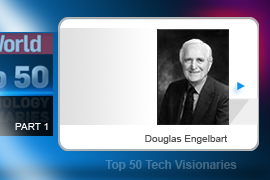 Engelbart patented the idea of his X-Y position indicator for a display system in 1967, and also nicknamed the device the mouse (owing to its tail). He and his research lab also developed an early online storage system -- and even demonstrated videoconferencing back in 1968.