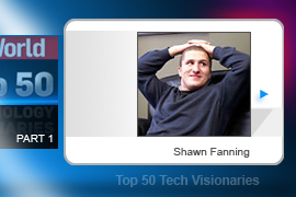 With Napster, Shawn Fanning introduced the technology that, some doomsayers warn, could spell the end of the Internet. Today traffic from peer-to-peer programs consumes an estimated 70 percent of all broadband bandwidth.
