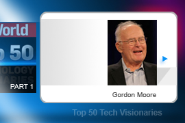 Moore's Law, posited in 1965, three years before Gordon Moore founded a little company called Intel, predicted that the number of components on a computer chip would double every year (later, he amended it to every two years).