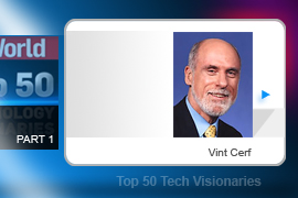 Vint Cerf - Cerf's work as an Internet pioneer has largely taken place in universities and government agencies, which in the early 1970s led directly to the creation of ARPANet, the predecessor to today's Internet. Cerf now works for -- who else? -- Google.