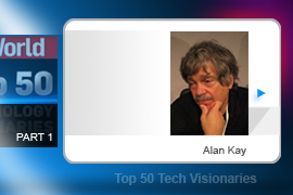 Alan Kay created HP's original Dynabook, one of the first usable mobile laptop computers. Kay's contributions to software -- which include shepherding the idea of object-oriented programming and the notion of multiple, overlapping windows in a GUI -- rank as essential milestones in computing.