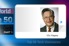 Vic Hayes - In 1990, Hayes formed the Wireless LAN working group and rallied some 130 companies to work together to develop open standards. The result: 802.11, and the cutting of a very firmly attached cord. Hayes continues to be actively involved in Wi-Fi development today.