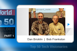 Dan Bricklin (left) and Bob Frankston worked together in 1979 to develop VisiCalc, the world's first spreadsheet and arguably the first killer app written for a personal computer. The 27KB program can run on PCs today, and its simplicity is a big reason why early PCs sold in droves.