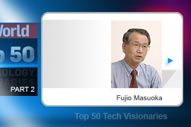 Fujio Masuoka - If anything is positioned to challenge the dominance of Al Shugart's hard drive (see slide no.8), it's Flash memory—invented by Fujio Masuoka. Masuoka during his tenure at Toshiba. (Masuoka says that the company initially tried to demote him after he came up with the technology).