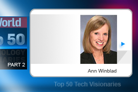 Half of the Hummer Winblad Venture Partners investment group, Ann Winblad was a key figure in the Web 1.0 boom, investing in such proto-companies as Napster, Gazoontite, Liquid Audio, and Pets.com. She also achieved indisputable nerd credit by having dated Bill Gates.