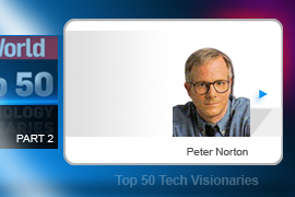 A Buddhist monk before becoming involved in the tech world, Peter Norton has been a major figure in the computer industry for three decades, having made his mark early in the DOS era with Norton Utilities. He sold his company to Symantec in 1990.