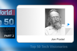 Jon Postel is known as the  Father of DNS -- the system that translates an IP address into a URL. Postel also did substantial work on the TCP/IP and SMTP protocols, authoring some 200 Internet spec documents overall.