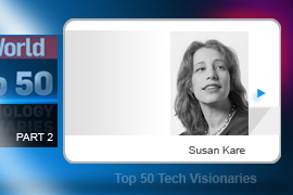 Susan Kare's earliest achievement was designing the typefaces -- and some of the, er, iconic icons -- that shipped with the Macintosh, including. The Happy Mac. She also designed the cards for Windows' ubiquitous Solitaire game and now designs Facebook's Gifts feature.