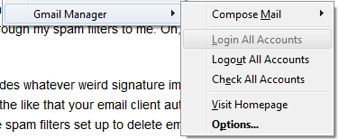Gmail Manager Firefox extension