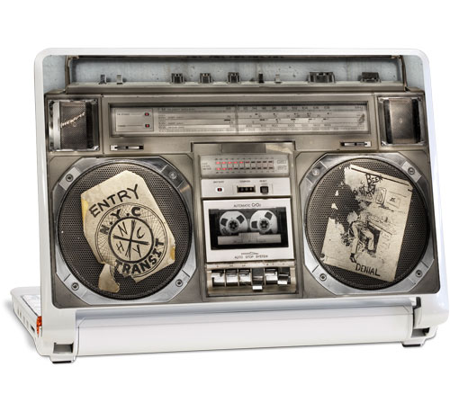 A boom-box-style skin (click for full-size image).