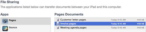 importing a document on the Mac