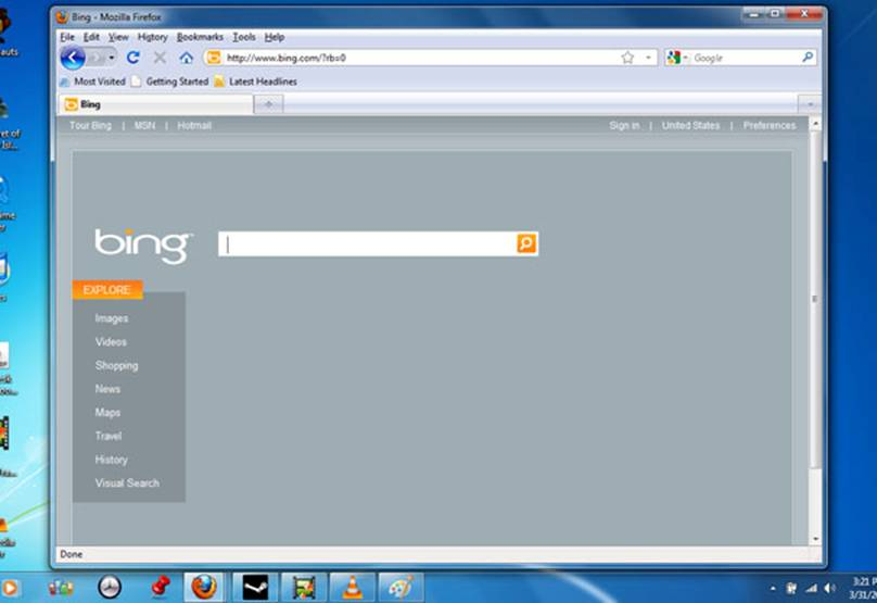 Bing plain-screen secret--click to enlarge.
