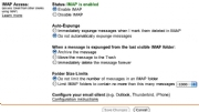 Gmail IMAP support; click for full-size image.