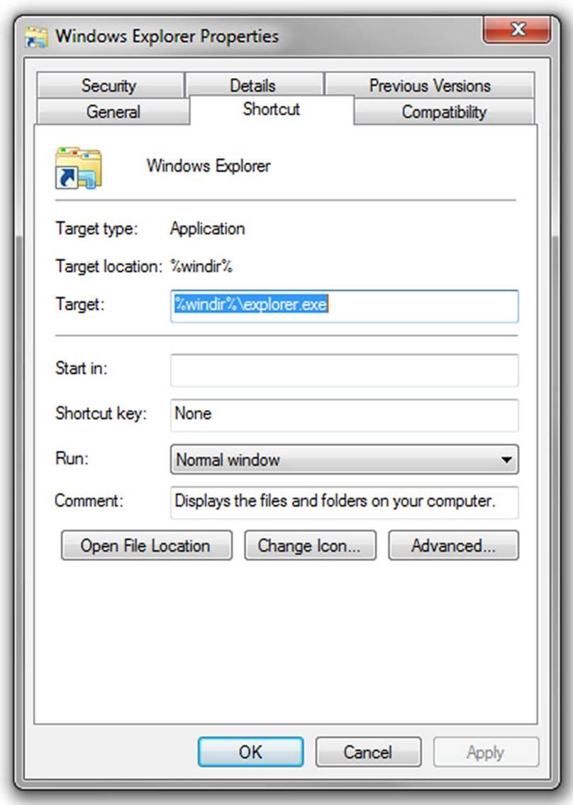Windows Explorer's default folder; click for full-size image.