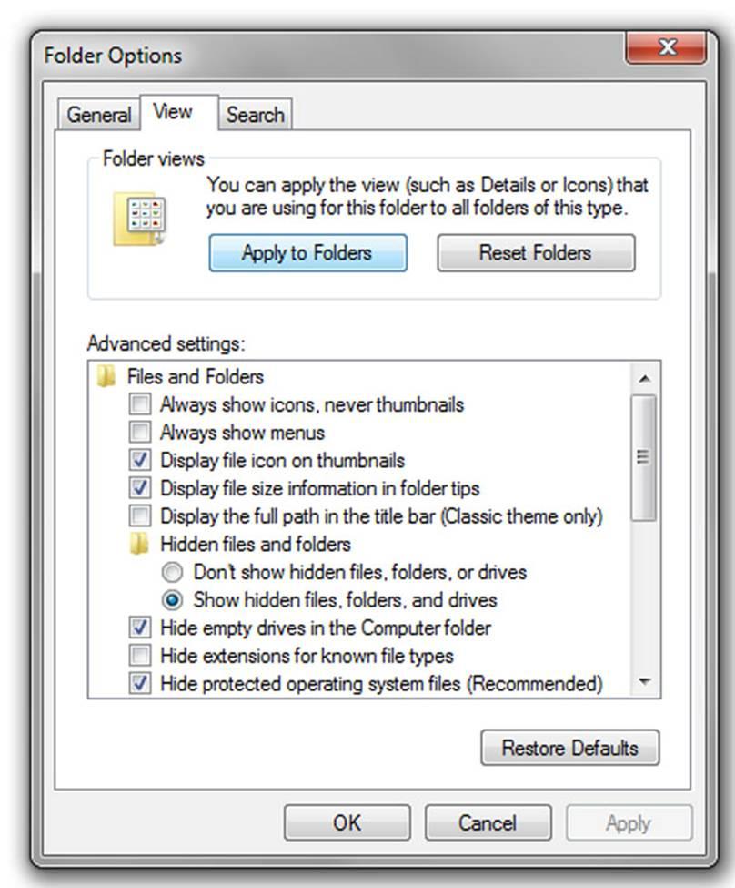 Folder Options; click for full-size image.