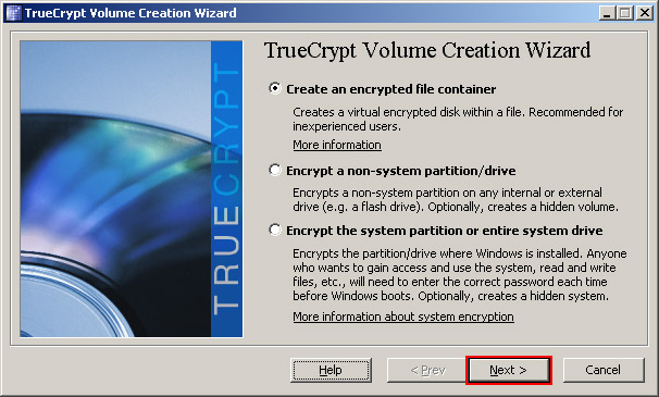 TrueCrypt; click for full-size image.