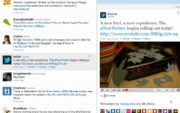 A look at how the newly revamped Twitter feed will look on Twitter.com.