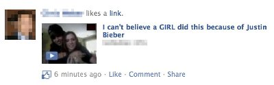 Justin Bieber spam