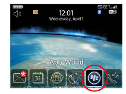 screenshot of BlackBerry App World Icon