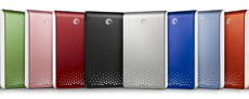 Seagate FreeAgent Go external drives.