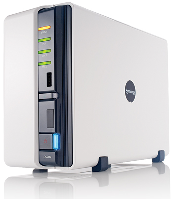 Synology DS209j NAS drive; click for full-size image.