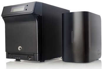 Seagate and Western Digital NAS drives; click for full-size image.