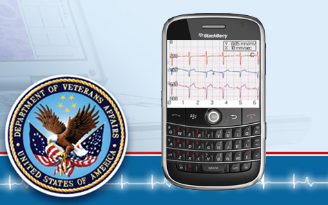 image of U.S. Department of Veterans Affairs Seal with BlackBerry Bold