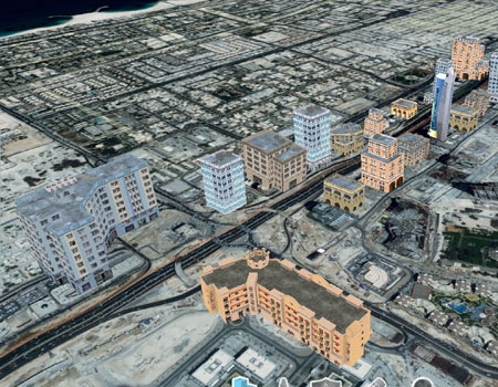 Dubai 3D buildings
