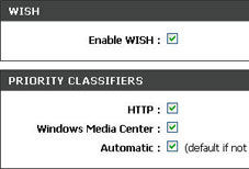 router settings: HTTP classifier