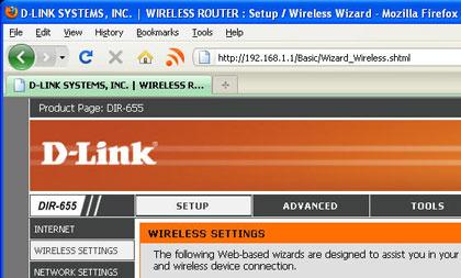 router settings: configure manually