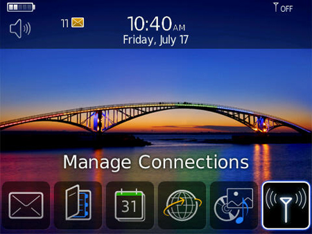 image of BlackBerry Manage Connections Icon