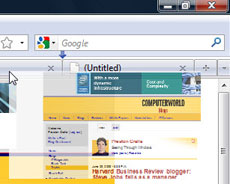 Firefox 3.5: When you reposition a tab, you see its thumbnail as you move it