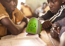 Talking Book Device in a Ghana classroom