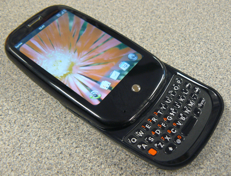 image of The Palm Pre with Keyboard Open