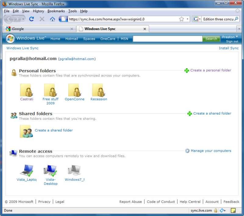 Microsoft Windows Live Sync