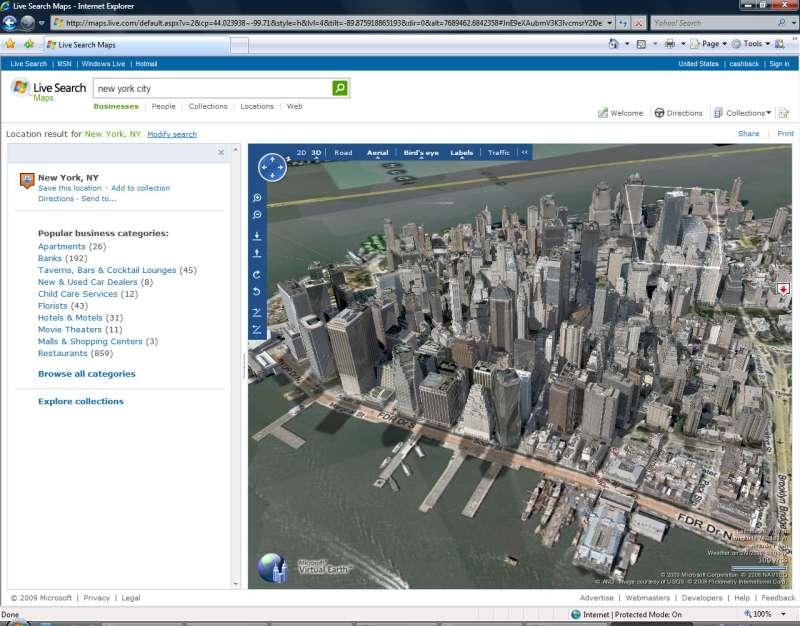 Microsoft Virtual Earth 3D