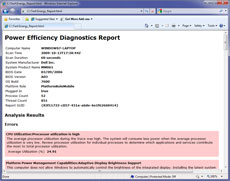 Windows 7 power efficiency report