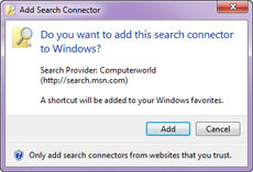 Search Connector installed
