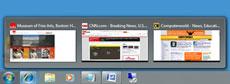 taskbar in thumbnail view