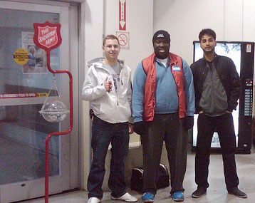 Salvation Army helpers
