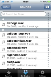 Dropbox iPhone: click for full-size image
