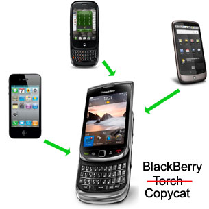 Eight ways the BlackBerry Torch is a copycat