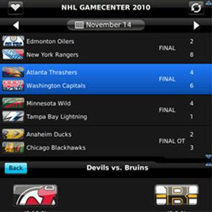 NHL Game Center 2010