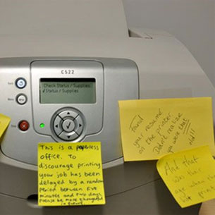 Notes on a Printer Scandal