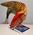 Augmented reality app brings dinosaurs to life at museum