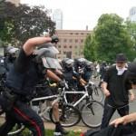 Police use batons