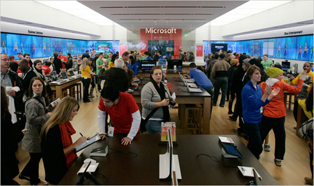 THE MICROSOFT STORE SERVICE IS THE BEST I'VE EVER EXPERIENCED IN THE COMPUTER BUSINESS, including the Apple store. First, the staff is diverse. Friendly. Knowledgeable. Truly helpful. Pasami, the manager, is always on top of things, super personable and smart/5().