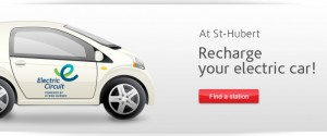Recharging stations available at participating St-Hubert BBQ restaurants